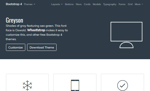 Greyson Bootstrap 4 Theme Full Screen