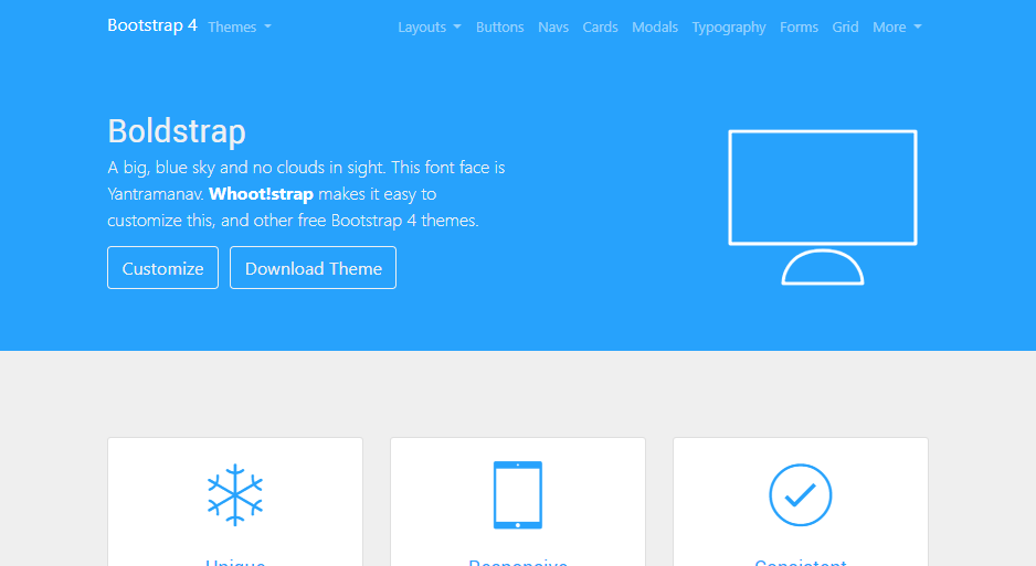 Bootstrap 4 Themes by Themes guide